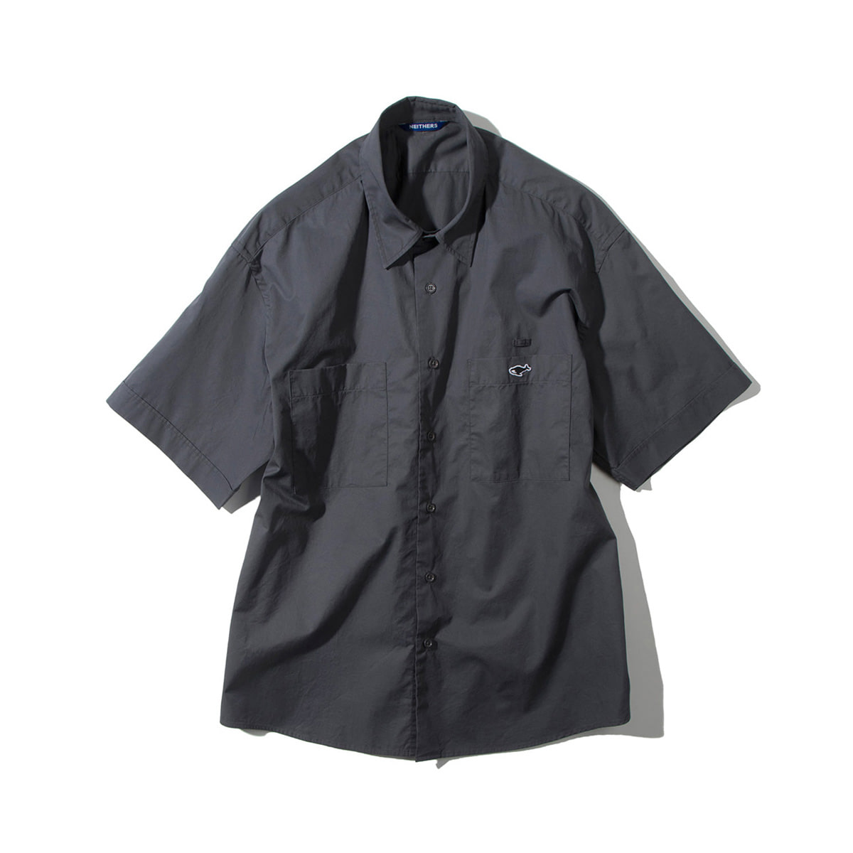 [NEITHERS] 205A-3 RELAXED HALF SHIRT 'CHARCOAL'