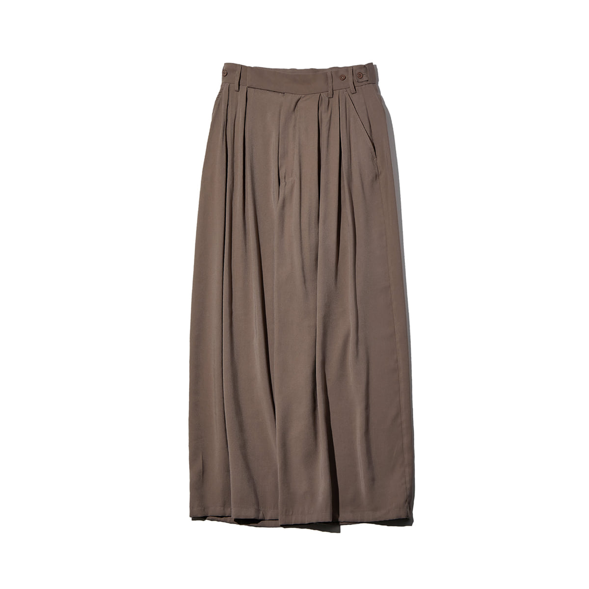 [NEITHERS] 353B-1 2-TUCK WIDE PANTS 'BEIGE'
