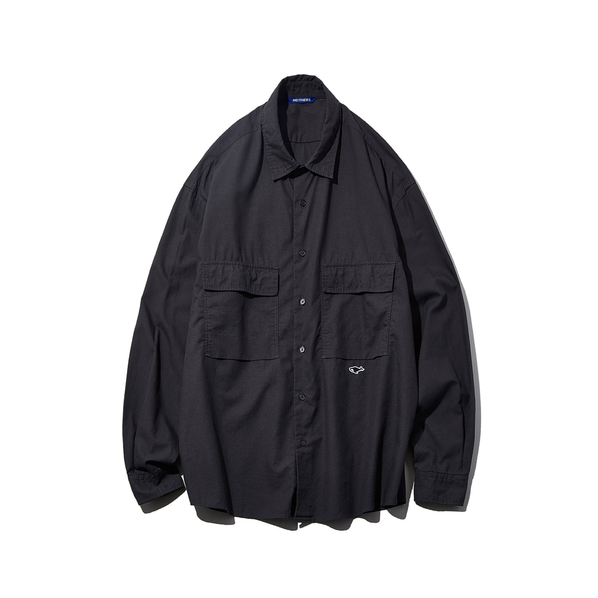 [NEITHERS] 206B-3 2-POCKET WIDE SHIRT 'CHARCOAL'