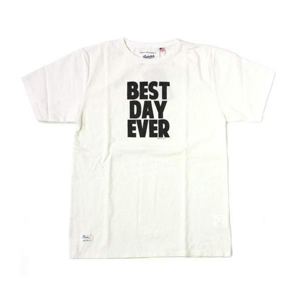 [BARNS OUTFITTERS] BEST DAY EVER T-SHIRTS white