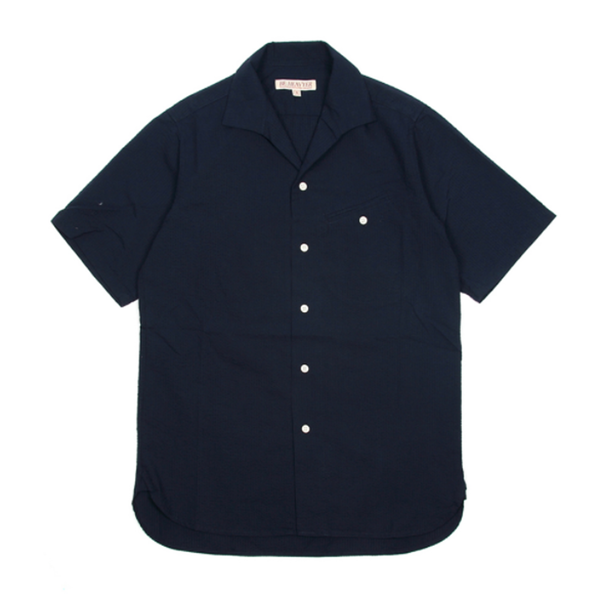 [BE HEAVYER] Flight Shirt - Navy