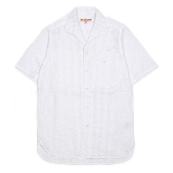 [BE HEAVYER] Flight Shirt - White