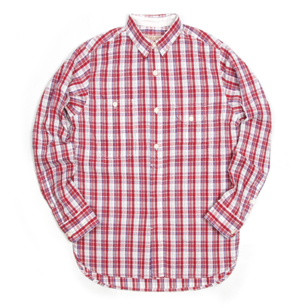 [BE HEAVYER] Standard Shirt - Red Check