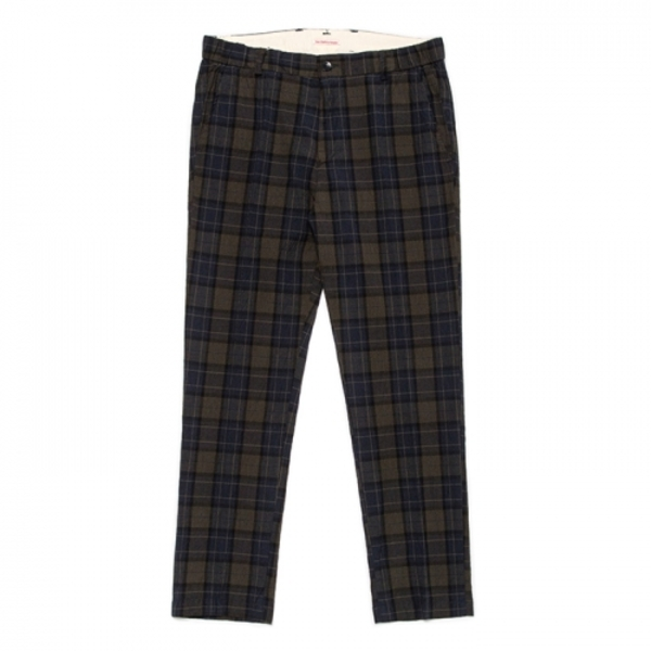 [EAST HARBOUR SURPLUS] MARK PANT(PLAID) DARK GREEN