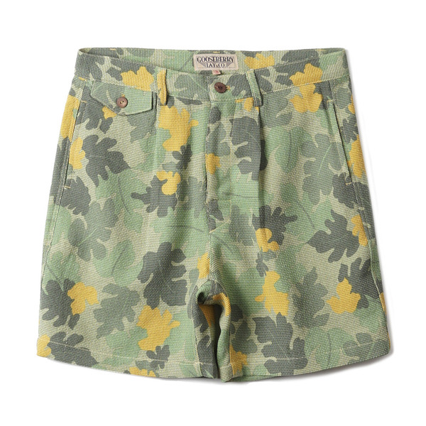 "[Gooseberry Lay & Co.] Beach Kit Short ""Green Leaf-Camo"""
