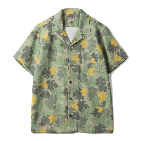 "[Gooseberry Lay & Co.] Beach Kit Shirt ""Green Leaf-Camo"""