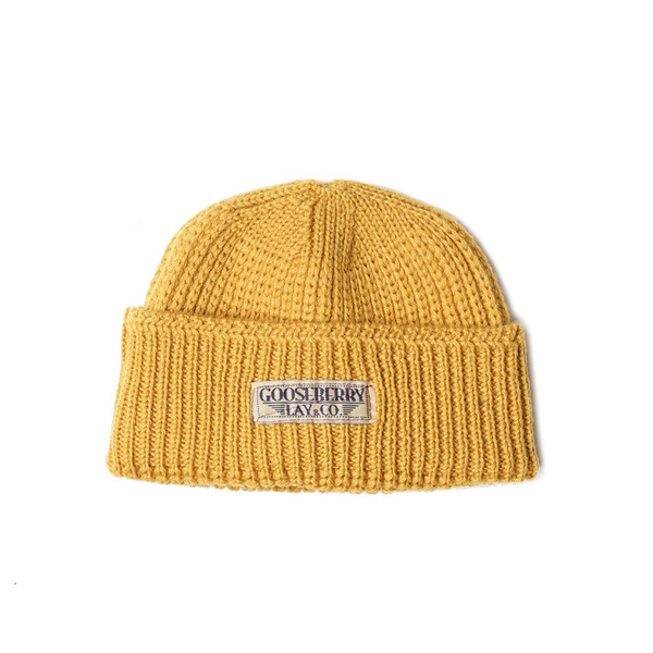 "[Gooseberry Lay & Co.] Barari Watch Cap ""Yellow"""