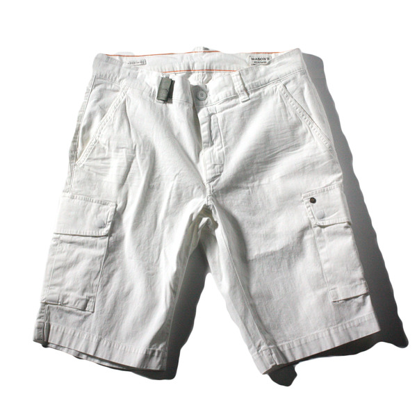 [Mason's] CHILE FIT 5Y SHORTS [WHITE]