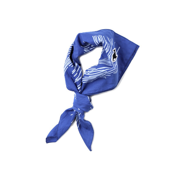 [NEITHERS] 401-1 WAVE OF SOUTHSEA SCARF BLUE