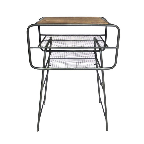 [YMCL KY] Iron Side Table CZ 'Olive'