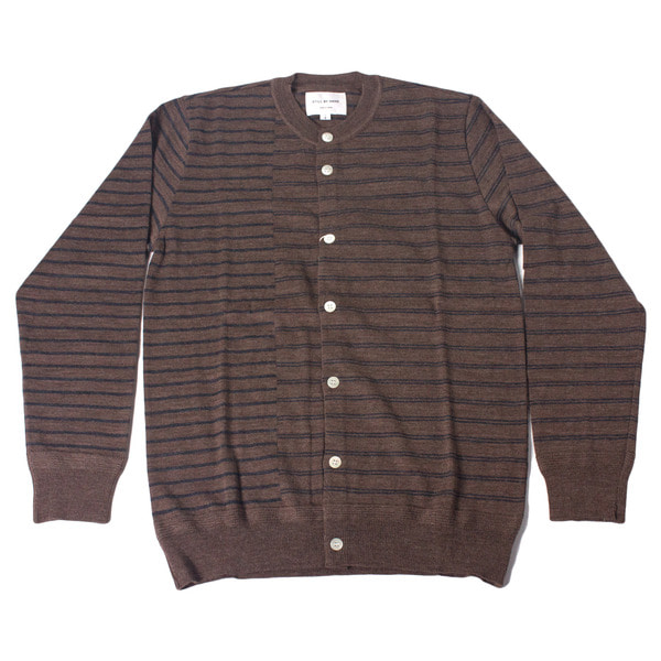 [STILL BY HAND] KN0573OS-CARDIGAN 'BROWN'