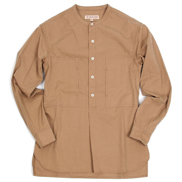 [BEHEAVYER] BANDED PULLOVER SHIRT 'BEIGE'