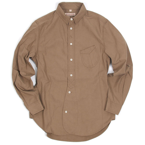[BEHEAVYER] 1 1/2 SHIRT 'BEIGE'
