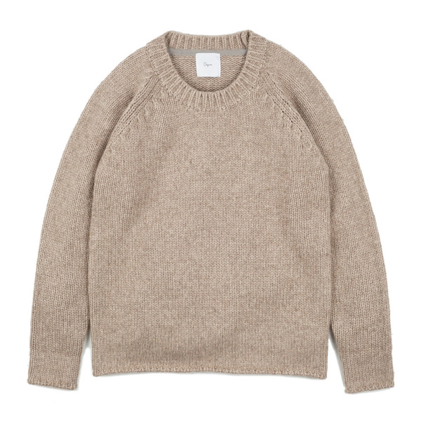 [OOPARTS] OPT17FWTS03BE ROUND-NECK SWEATER 'BEIGE'