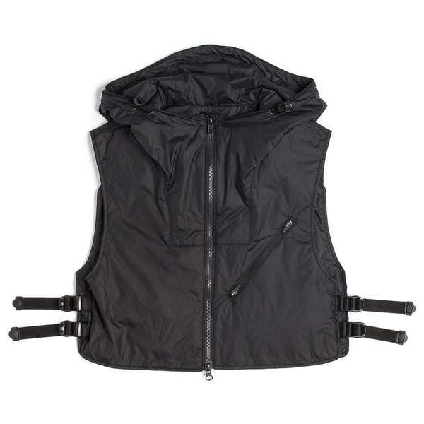 [UNAFFECTED] UTILITY LAYERED VEST 'BLACK'
