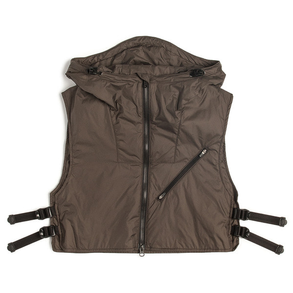 [UNAFFECTED] UTILITY LAYERED VEST 'OLIVE BROWN'