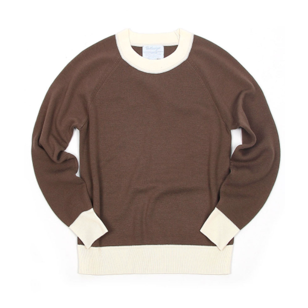[BEHEAVYER] BHR MOCKNECK 'BROWN'