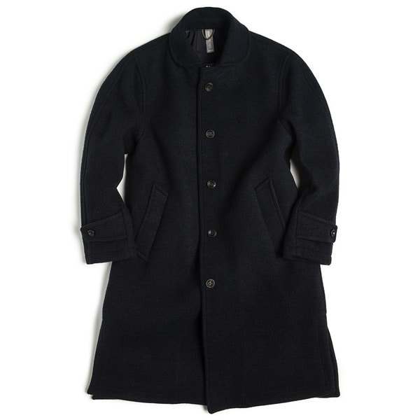 [UNAFFECTED] OVERSIZED COAT 'NAVY WOOL'
