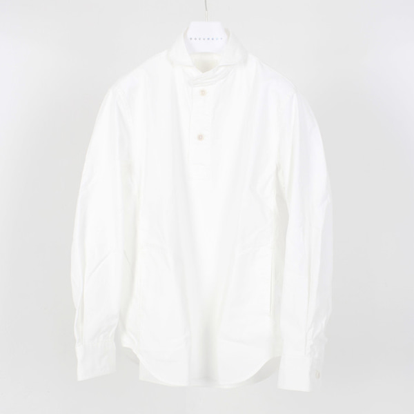 [DOCUMENT] THE DOCUMENT FRENCH ROUND COLLAR SHIRT 'OFF WHITE'