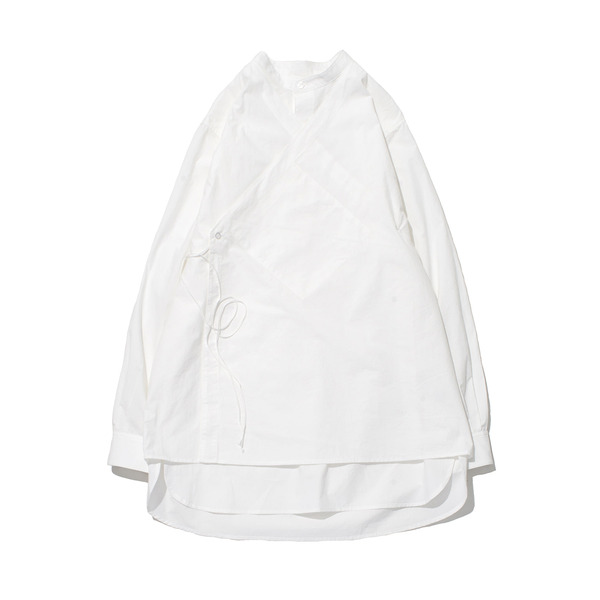 [GAKURO] DOUBLE LAYERED TUNIC SHIRT 'WHITE'