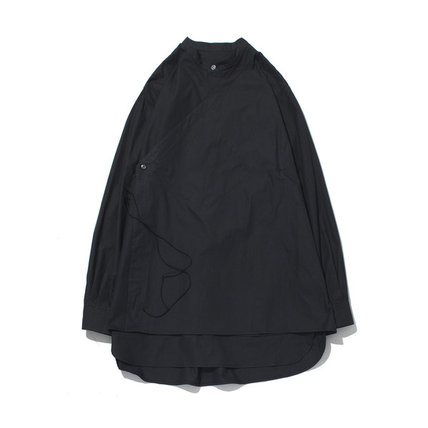 [GAKURO] DOUBLE LAYERED TUNIC SHIRT 'BLACK'