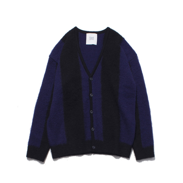 [GAKURO] MOHAIR CARDIGAN 'BLACK/PURPLE'