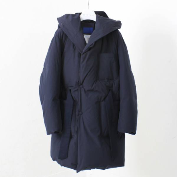 [DOCUMENT] DUCK DOWN ROBE HOOD COAT 'NAVY'