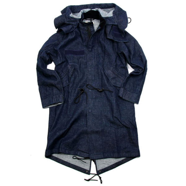 [BEHEAVYER] DENIM M-65 FISHTAIL PARKA