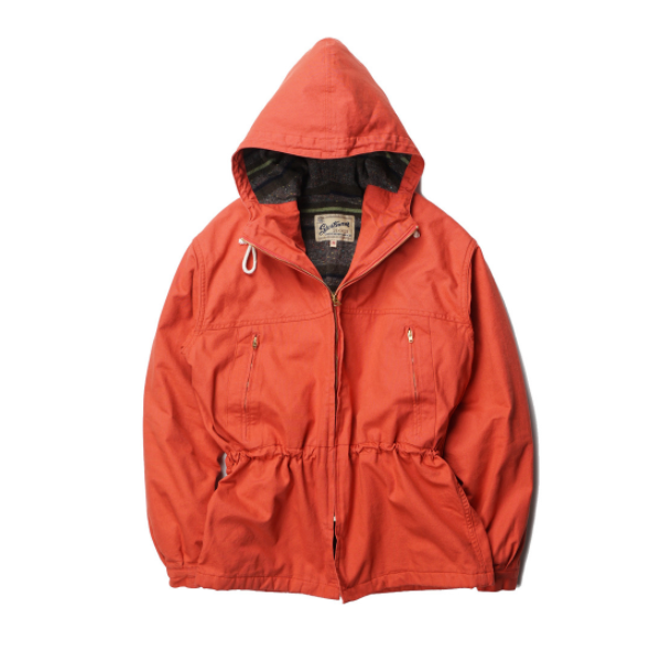[GOOSEBERRY LAY & CO] PARK PARKA COTTON DUCK BLANKET LINED 'ORANGE'
