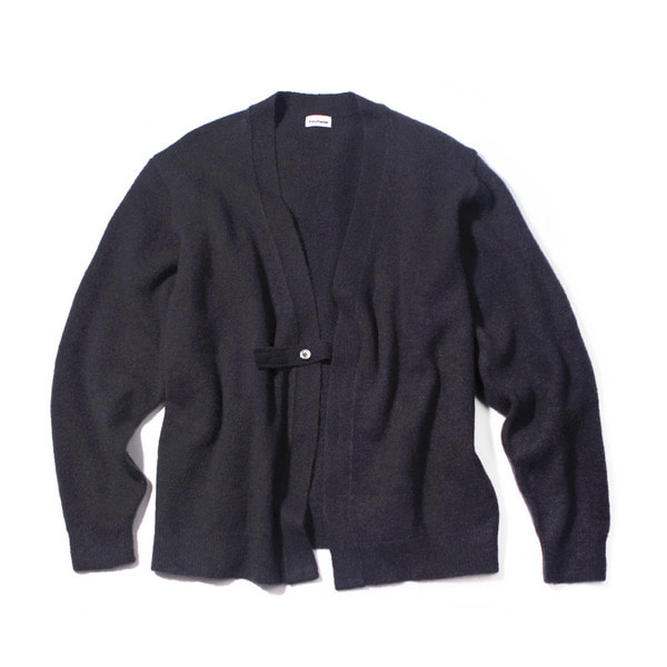 [FORUMWEAR] MOHAIR HOLDER LOOP CARDIGAN 'CHARCOAL'