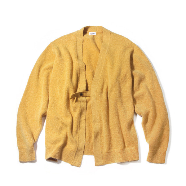 [FORUMWEAR] MOHAIR HOLDER LOOP CARDIGAN 'MUSTARD'