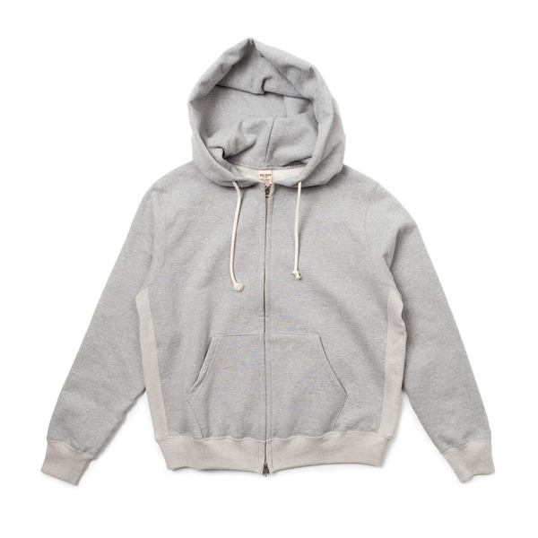 [BIG UNION] 17FW SWEAT ZIP PARKA 'GREY MELANGE'