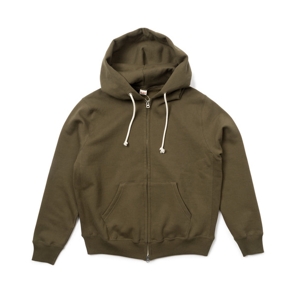 [BIG UNION] 17FW SWEAT ZIP PARKA 'OLIVE'