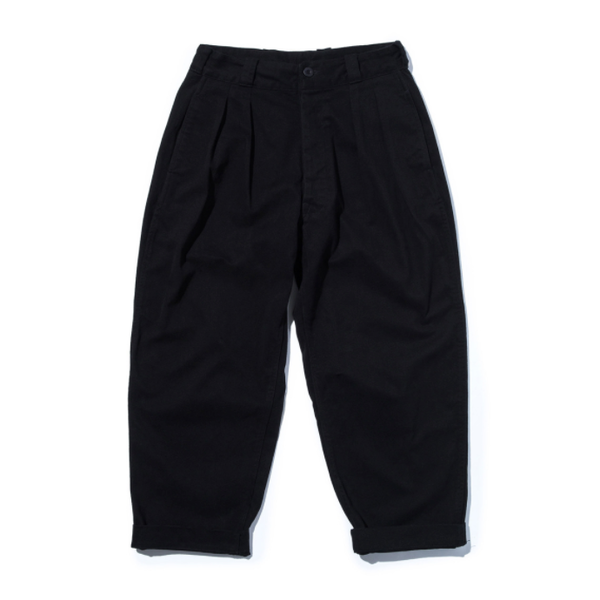 [STAND OUT STORE] WIDE PANTS (MOLESKIN) 'BLACK'
