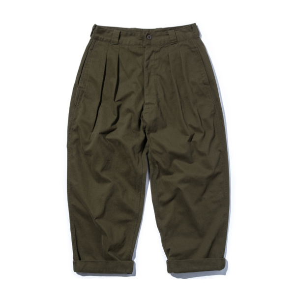 [STAND OUT STORE] WIDE PANTS (MOLESKIN) 'OLIVE'