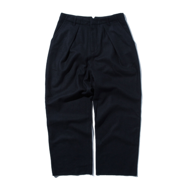 [STAND OUT STORE] WOOL WIDE PANTS 'DARK NAVY'
