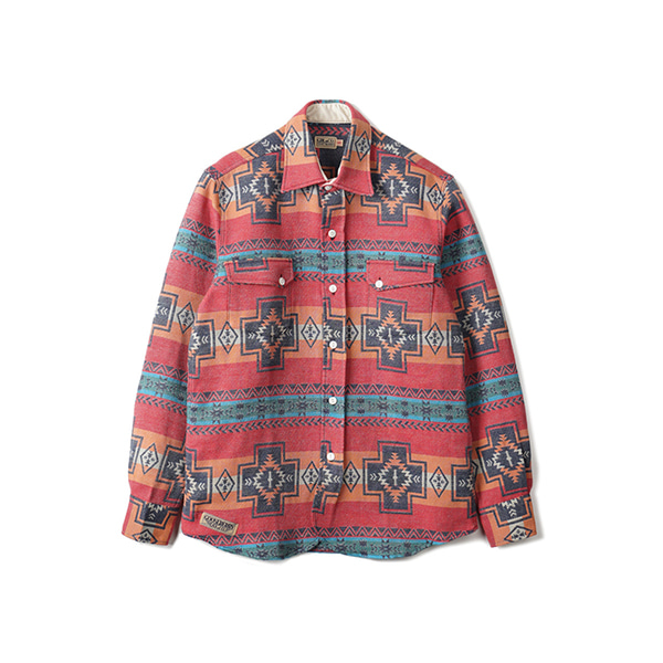 [GOOSEBERRY LAY & CO]NAVAJO DWIGHT RANCH SHIRT 'RED'