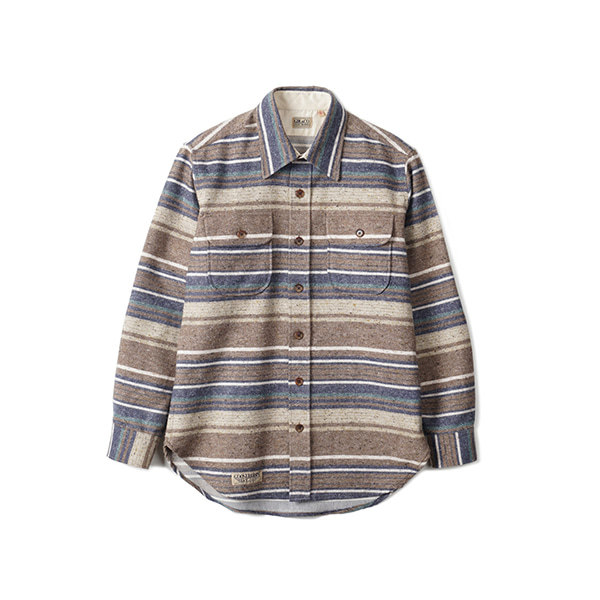 [GOOSEBERRY LAY & CO] WOOD SHIRT 'BROWN STRIPE'
