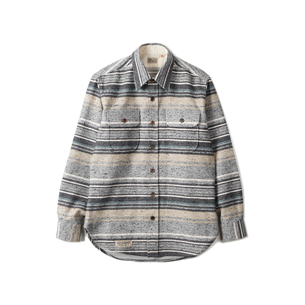 [GOOSEBERRY LAY & CO] WOOD SHIRT 'GREY STRIPE'