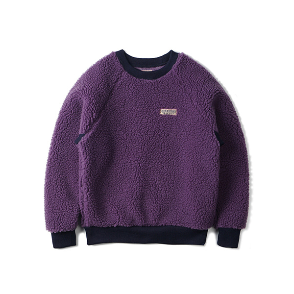 [GOOSEBERRY LAY & CO] PILE SWEATSHIRT 'PURPLE'