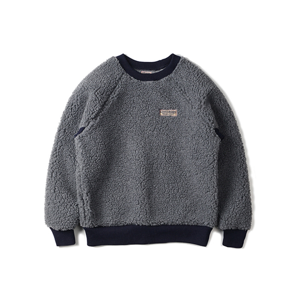 [GOOSEBERRY LAY & CO] PILE SWEATSHIRT 'GREY'