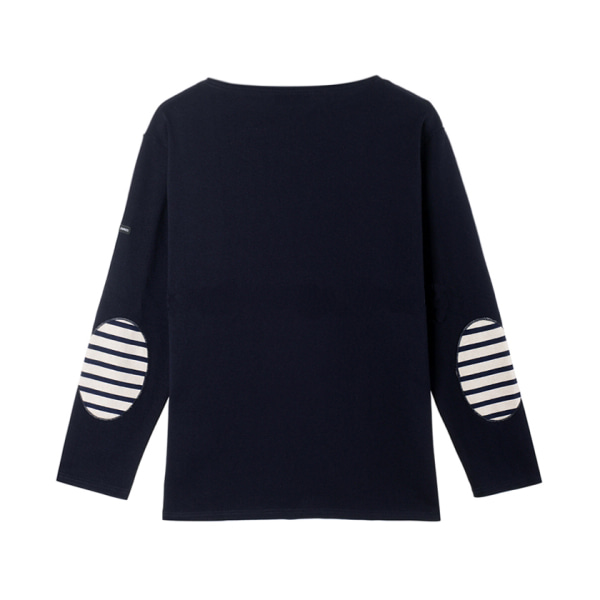 [SAINT JAMES] GUIILDO U ELBOW PATCH 'NAVY'