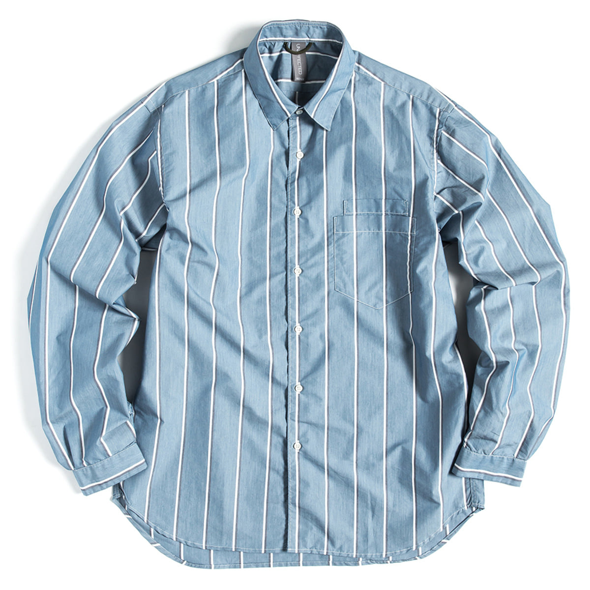 [UNAFFECTED] OVERSIZED BASIC SHIRT 'BLUE STRIPE'