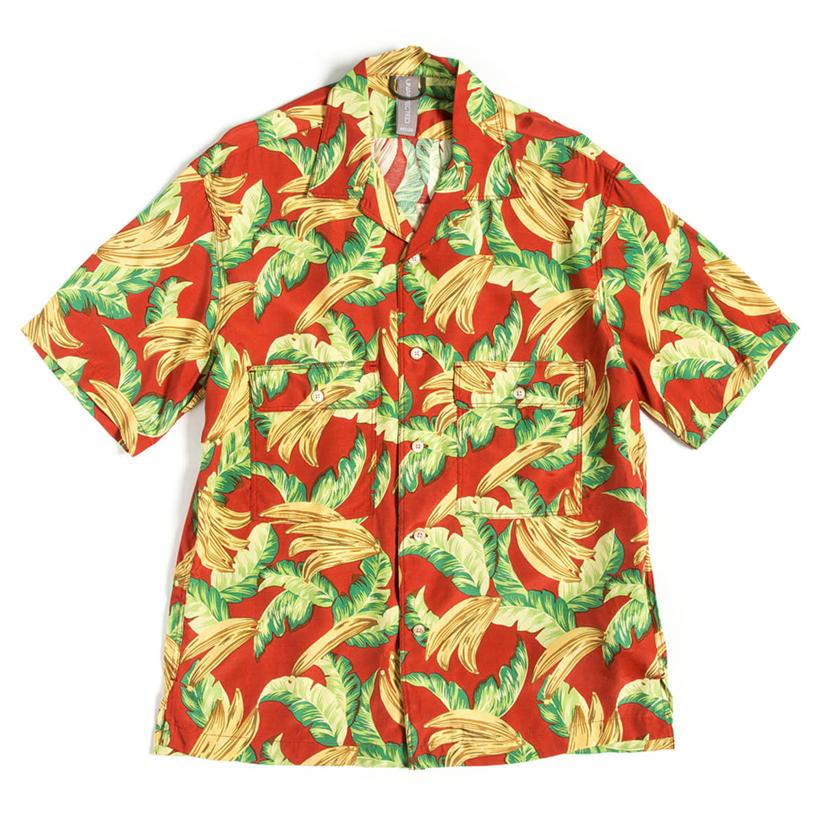 [UNAFFECTED] OPEN COLLAR HALF SHIRT 'RED BANANA'