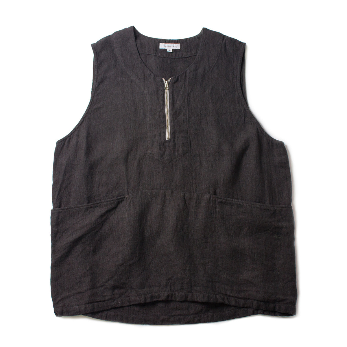 [ORDINARY FITS] DUCK LINEN VEST 'CHARCOAL'