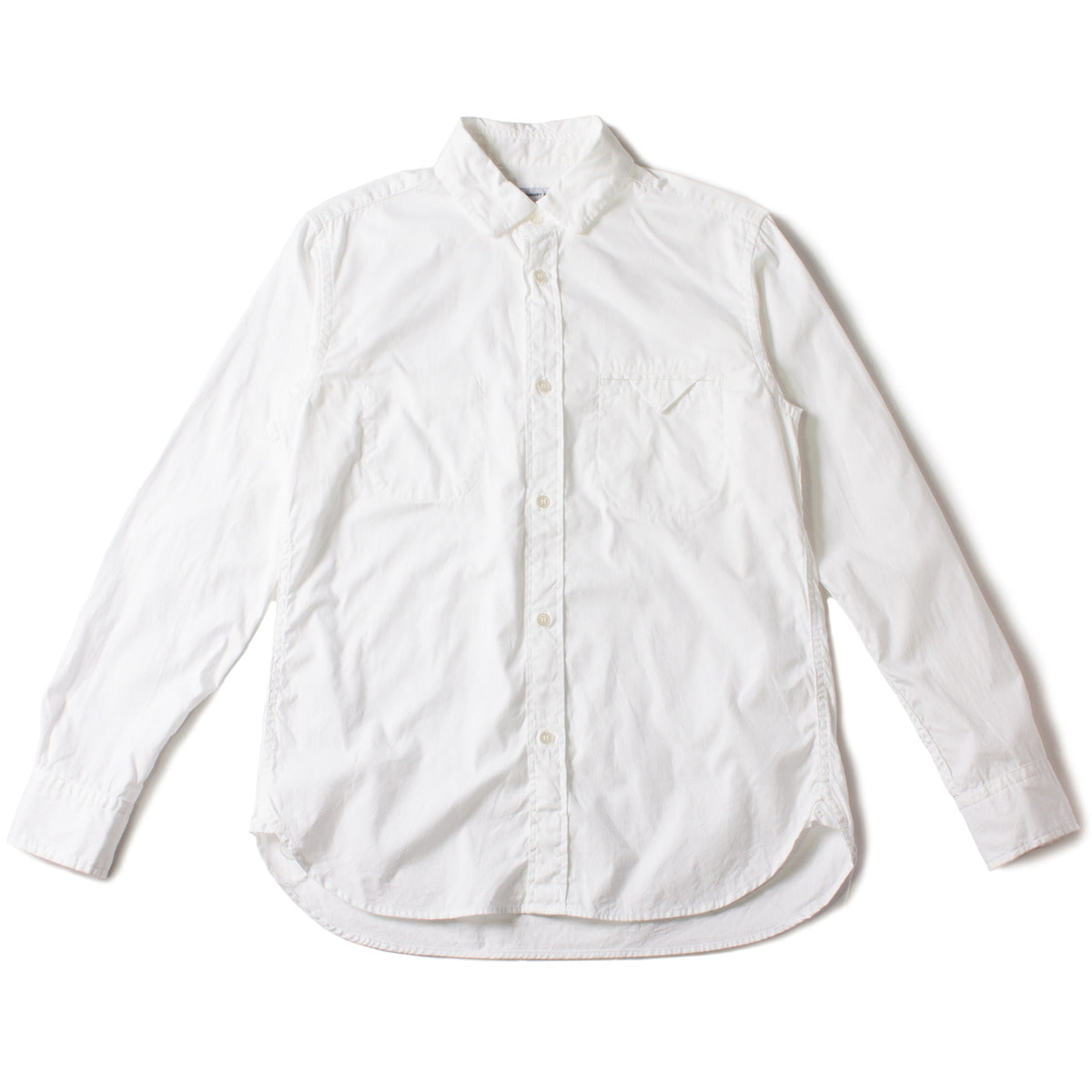 [ORDINARY FITS] INVISIBLE B/D SHIRT 'WHITE'