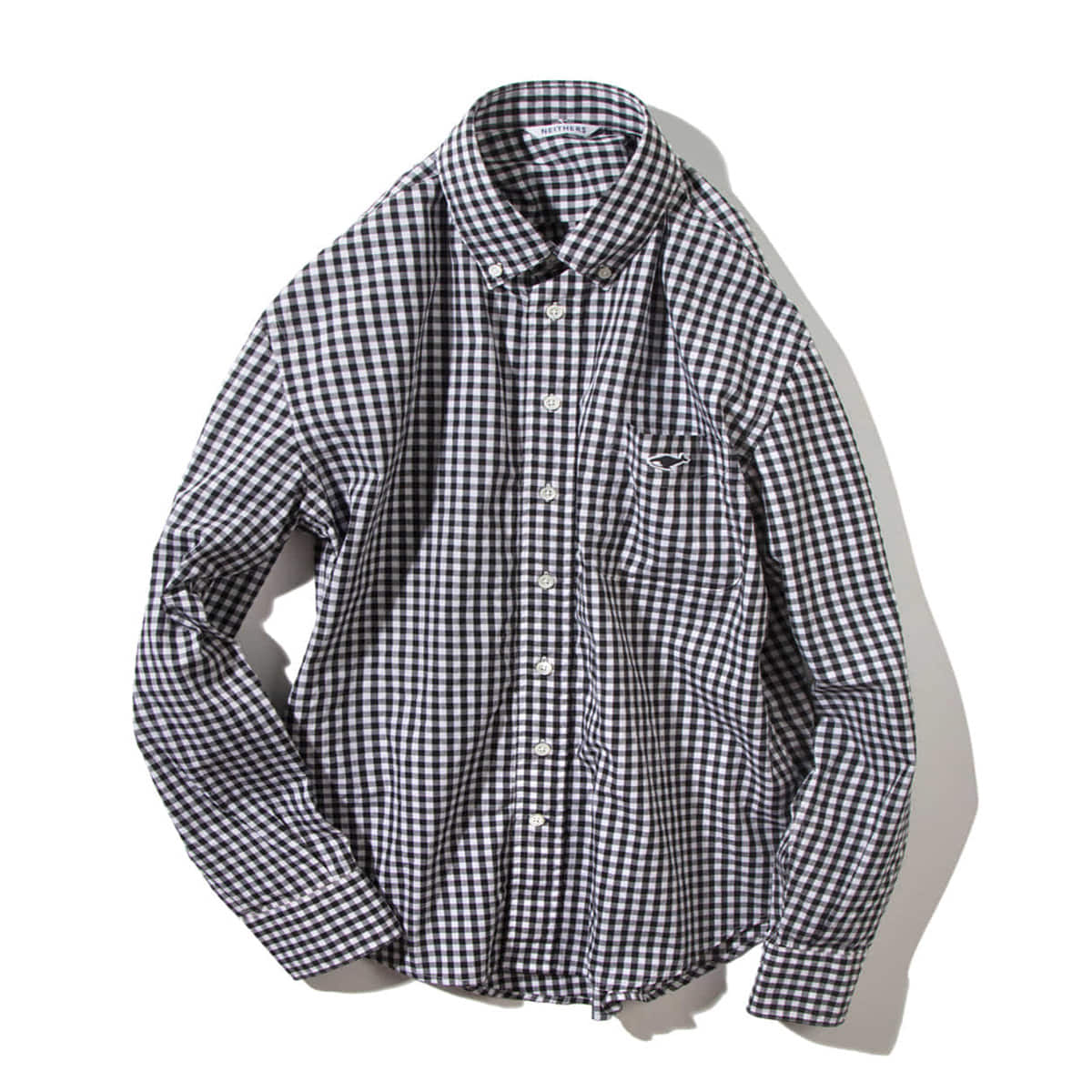 [NEITHERS] 210-7 STANDARD GINGHAM SHIRT 'BLACK'