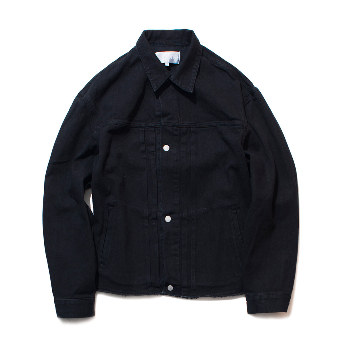 [GAKURO] DENIM JACKET 'WASHED BLACK'