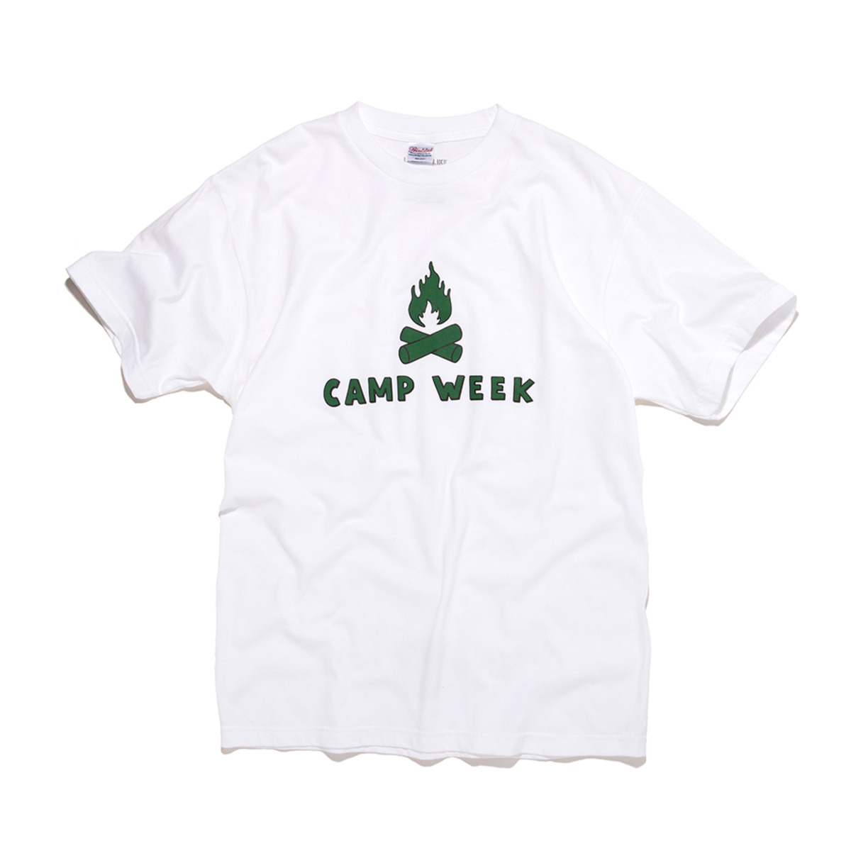[BIG WAVE] CAMP WEEK TEE 'WHITE'