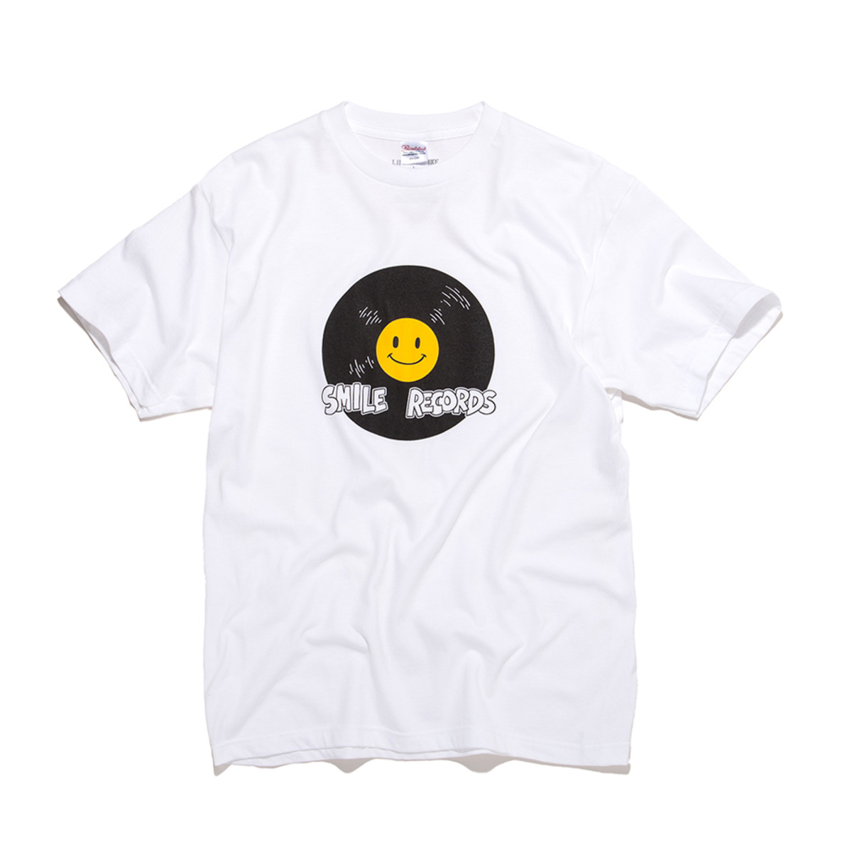 [BIG WAVE] SMILE RECORD TEE 'WHITE'